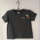 [ワニの行進]刺繍Tシャツ全体ハンガー