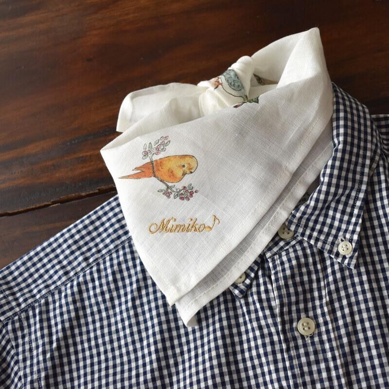 リネンハンカチ・バードウォッチングシャツへ