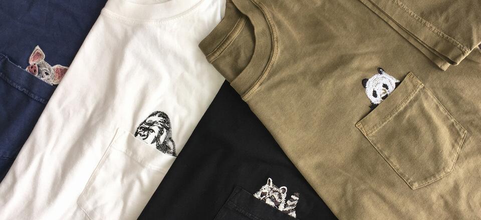 覗き見Tシャツ各種