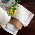 今治フェイスタオル[プラシッド]ネーム刺繍サンプル花