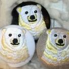 白熊ママ[黄]刺繍ボタン/3種アップ