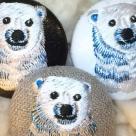 白熊ママ[青]刺繍ボタン/3種アップ