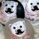 白熊パパ[ピンク]刺繍ボタン/3種アップ