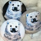 白熊パパ[青]刺繍ボタン/3種アップ