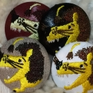 ライオンyellow38刺繍ボタン/4種