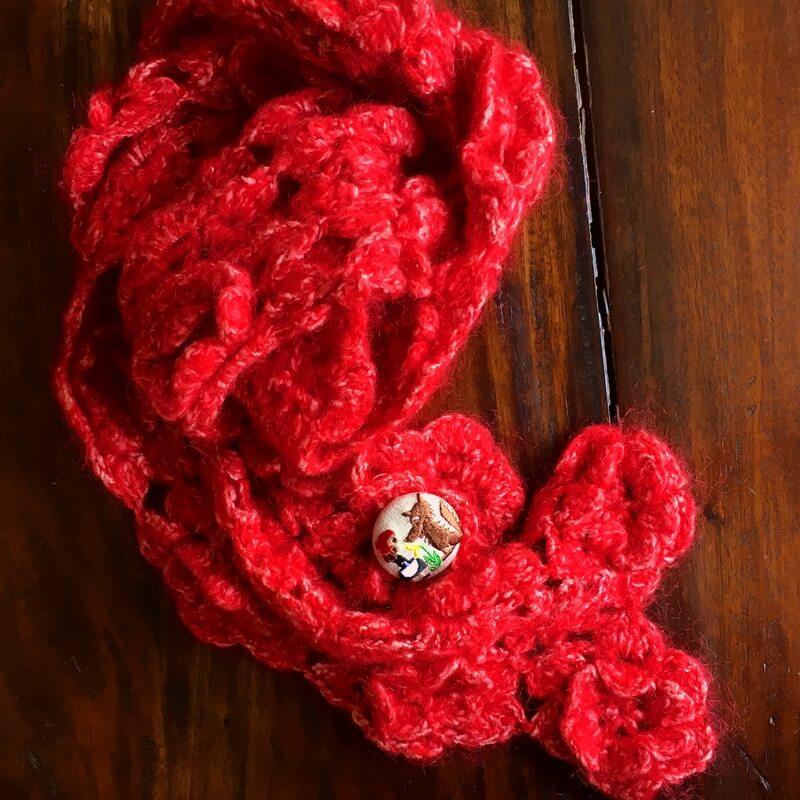 赤頭巾ちゃん刺繍くるみ38マフラー