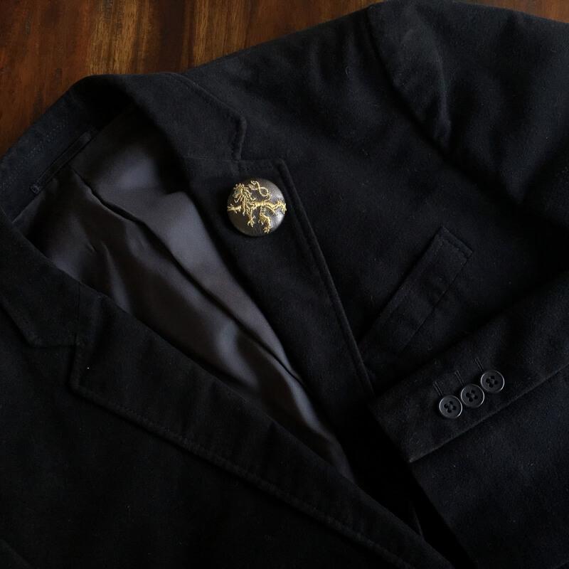 チェコライオン刺繍くるみ38ジャケット