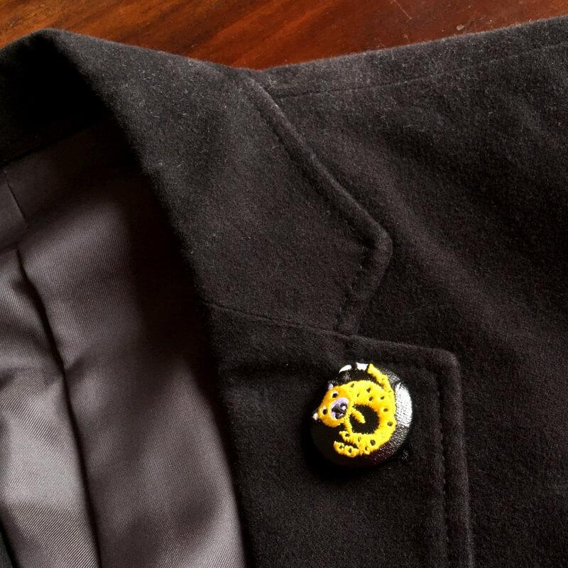 チータ-29刺繍ボタンベロアJK