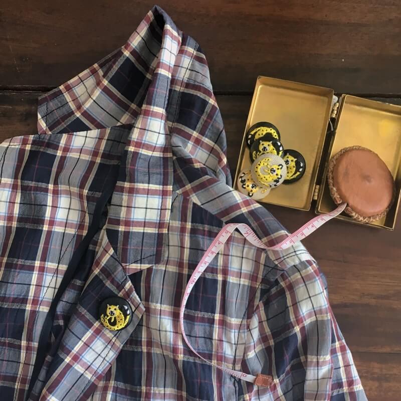 チータ-29刺繍ボタンジャケット