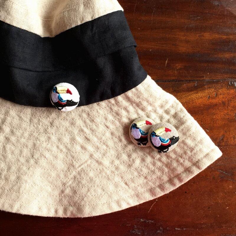 オオハシ29刺繍ボタン帽子