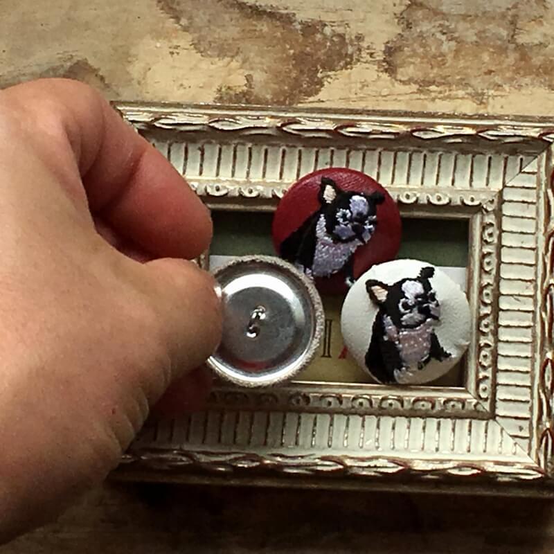 フレンチブルドック29刺繍ボタンハンド