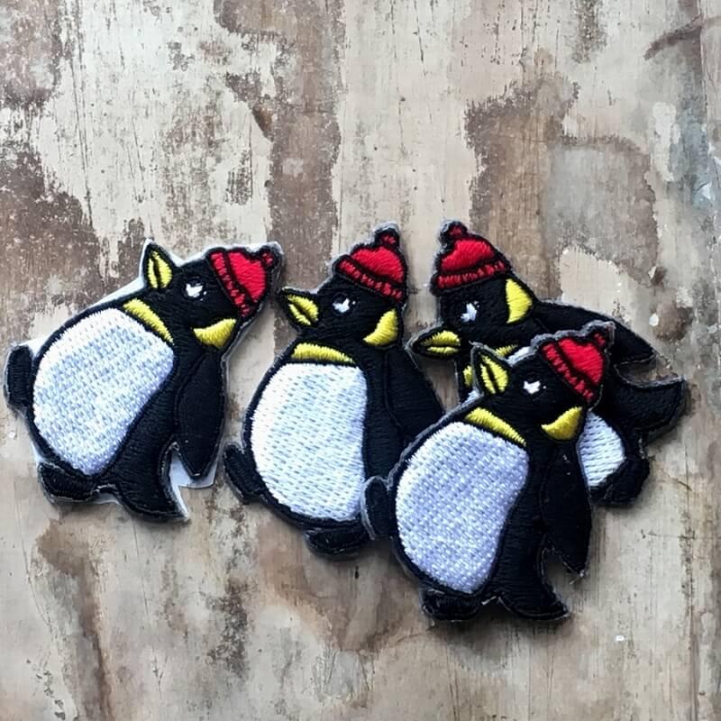 刺繍ワッペン/ペンギンニット帽親のみ