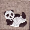 寝パンダ刺繍図案スキャンサンプル