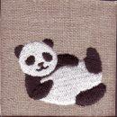寝パンダ[動物]刺繍図案デザイン
