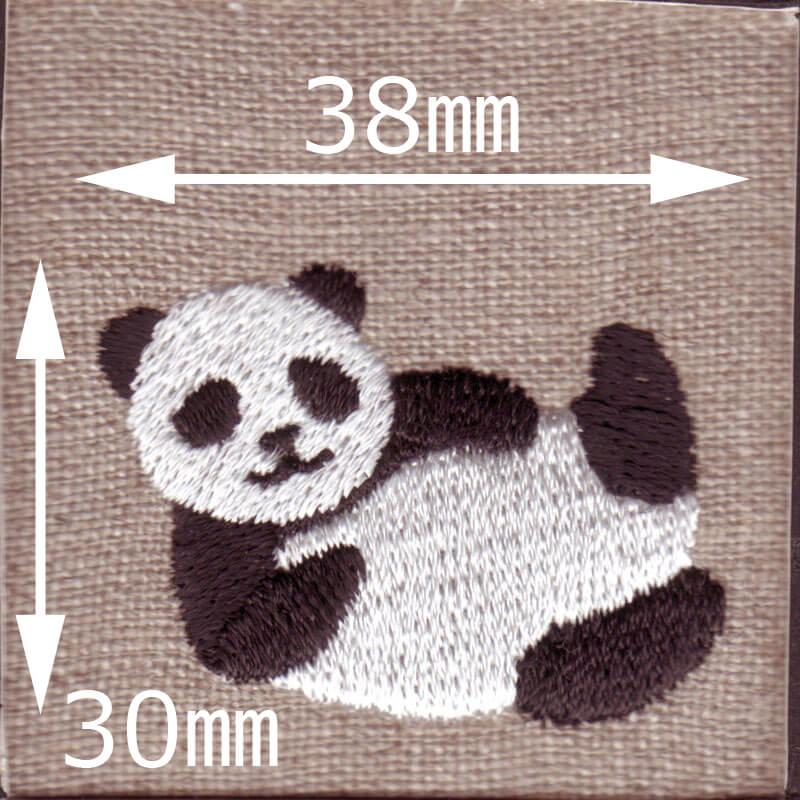 寝パンダ刺繍図案スキャンサイズ表記