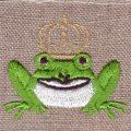 KING FROG《かえるの王様》[童話]刺繍図案デザインサンプル