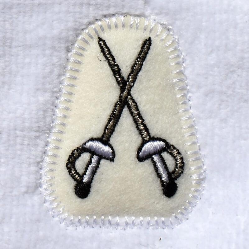 フェンシング刺繍タオル