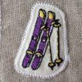 スキー刺繍トップ