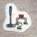 ゲートボール[スポーツ]刺繍図案ステッカー