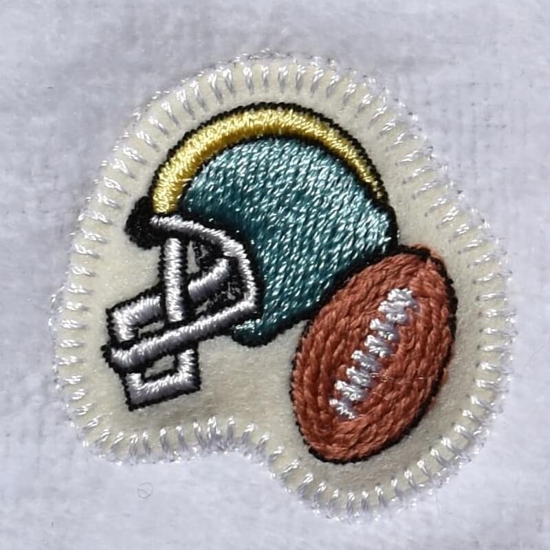 アメフト刺繍タオル