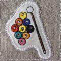 ビリヤード刺繍トップ