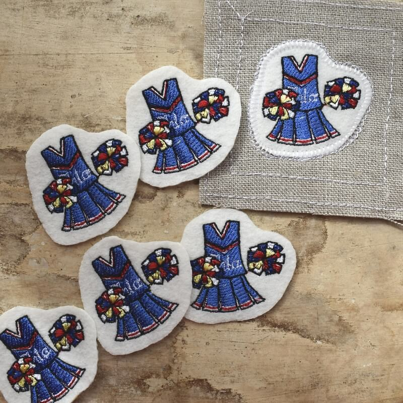チアリーディング刺繍ひらおき麻