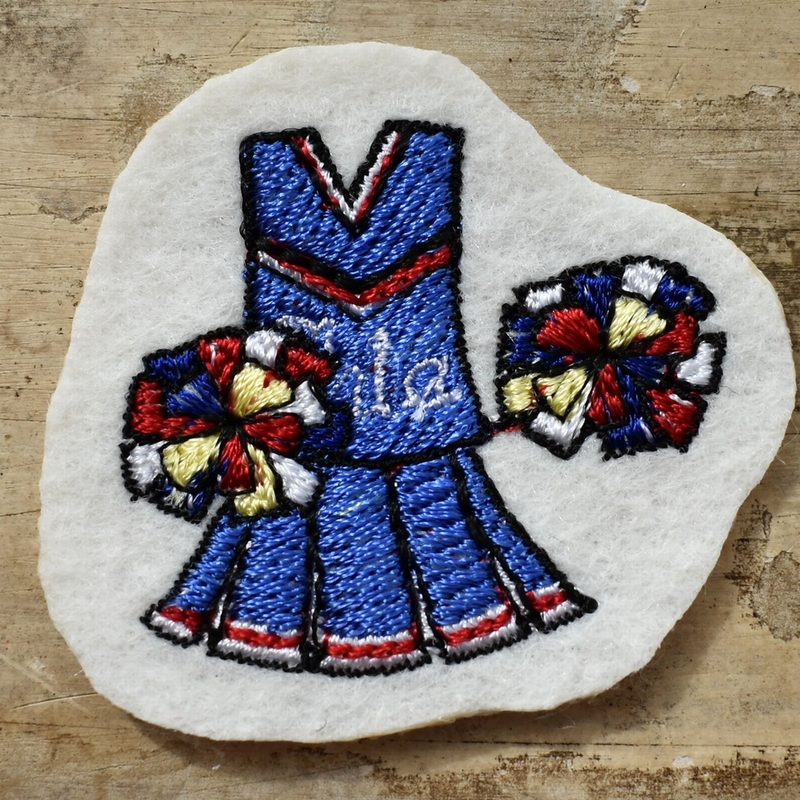 チアリーディング刺繍