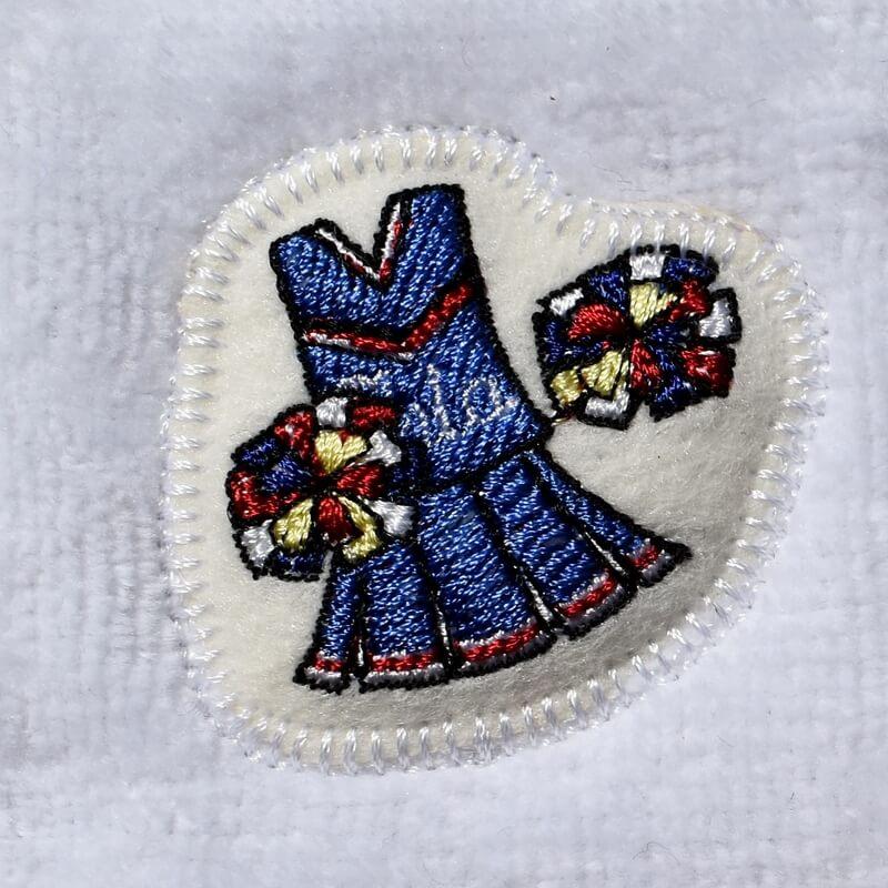 チアリーディング刺繍タオル