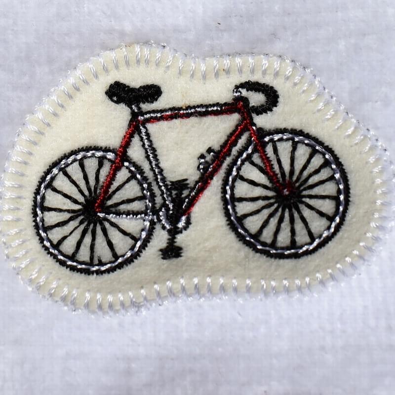 サイクリング刺繍タオル