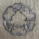 アンティークプレート絵皿[ロココ調]刺繍図案