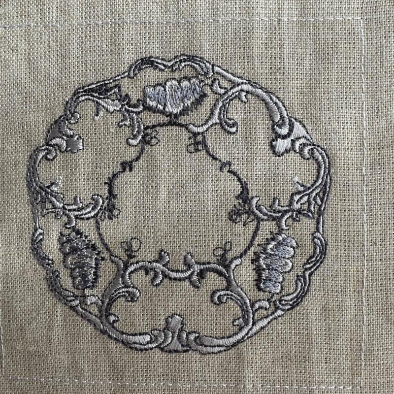 プレートロココ調刺繍ステッチ