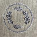 アンティークプレート絵皿[花モチーフ]刺繍図案