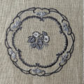 プレートつる花刺繍イメージ