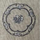 アンティークプレート絵皿[つる花]刺繍図案