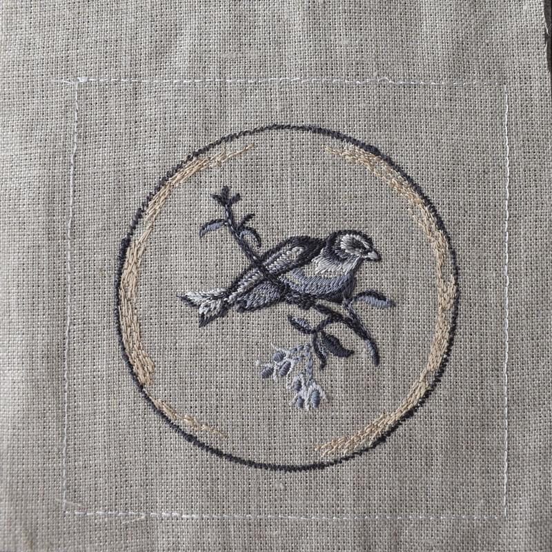 プレート小鳥刺繍ステッチ