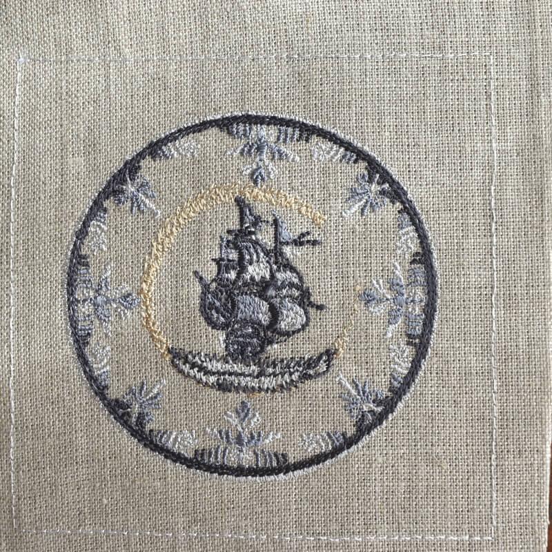 プレート舟刺繍ステッチ