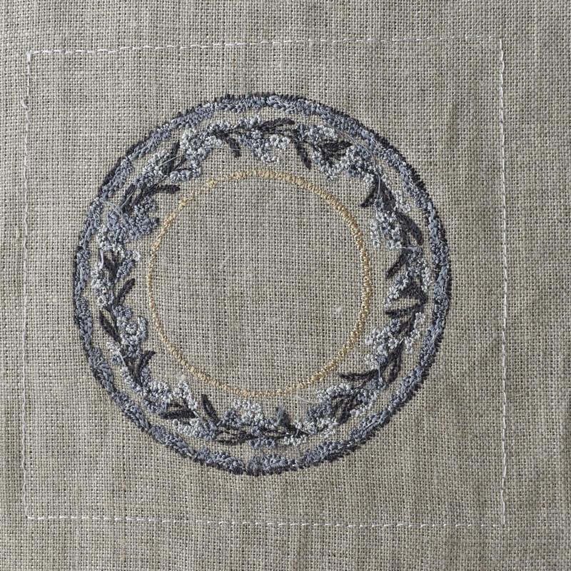 プレートミモザ刺繍ステッチ