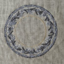 アンティークプレート絵皿[ミモザ]刺繍図案