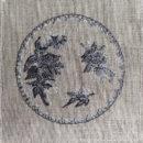 アンティークプレート絵皿[ベリー]刺繍図案