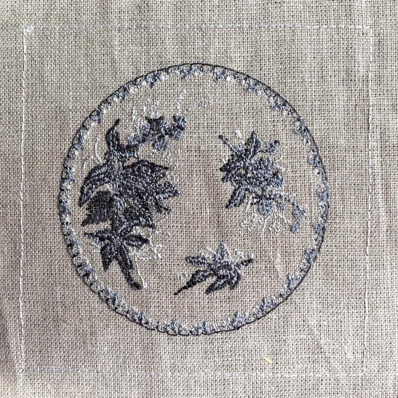 プレートベリー刺繍巣ステッチ