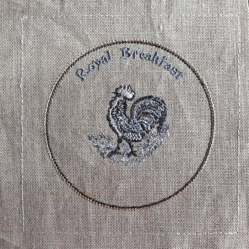 プレートニワトリ刺繍ステッチ