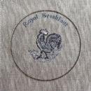 アンティークプレート絵皿[ニワトリ・風見鶏]刺繍図案