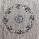 アンティークプレート絵皿[フラワーリボン]刺繍図案