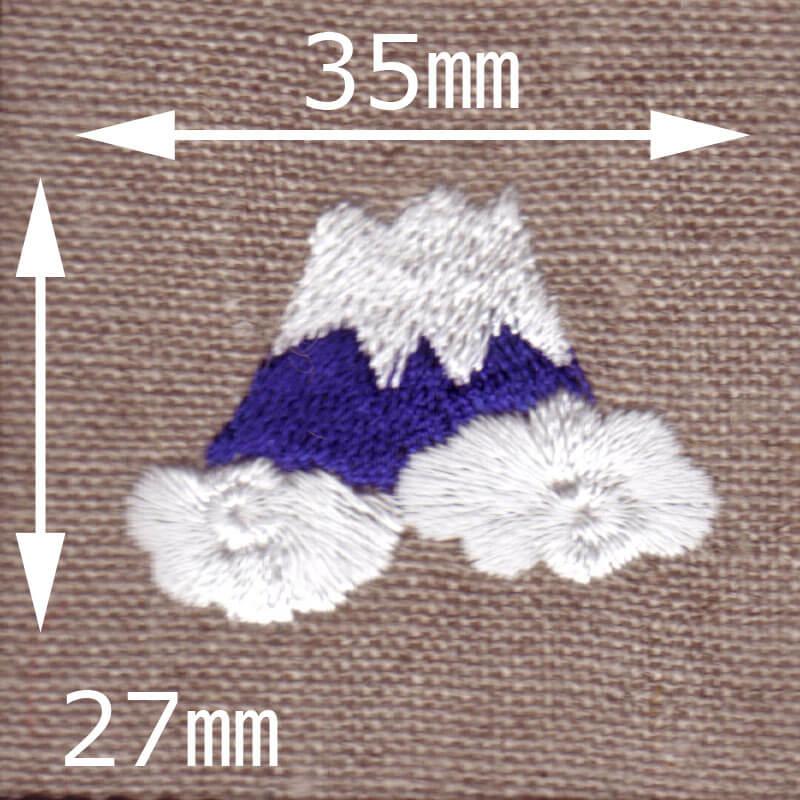 富士山[日本]刺繍図案デザインのサイズ表記