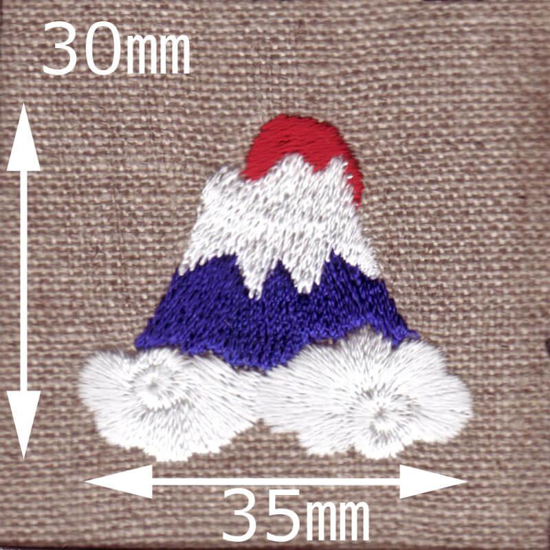 富士山[日の出]刺繍図案デザインのサイズ表記