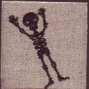バンザイドクロ[骸骨]刺繍図案デザイン