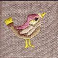ハミングバード[小鳥]刺繍図案デザイン