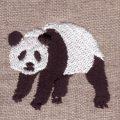 起きパンダ[動物]刺繍図案デザイン