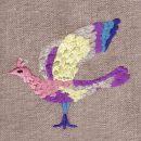 南の島の極楽鳥[天国の鳥]刺繍図案デザイン