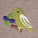 クローバーバード[幸運の鳥]刺繍図案デザイン